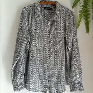 Women's Ivanka Trump print blouse, business, XL/TG